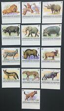 MOMEN: BURUNDI SC #589a-601a 1982 1983 EMBLEM WILDLIFE MINT NH OG LOT #60811