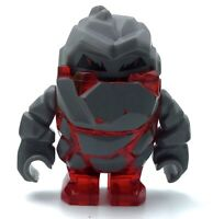LEGO MELTROX MINIFIGURE POWER MINERS TRANS-RED ROCK MONSTER FIGURE