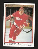 1990-91 OPC O-Pee-Chee Premier KEITH PRIMEAU ROOKIE #91 NM-MT Detroit Red Wings