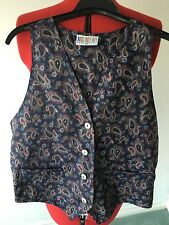 Sportsgirl Women's Paisely Vest Size 10 Made In Australia #89a
