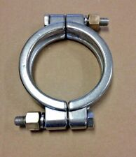 2 Pcs 30 Bolted High Pressure Tri Clamp T304 Stainless Steel Sanitary