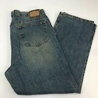 Arizona Denim Jeans Mens 40X30 Blue Straight Leg Relaxed Fit Cotton Medium Wash