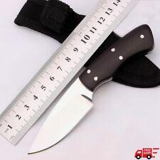 Tactical Ebony Handle Machete Bowie Knife with Nylon Sheath Camp Outdoor Combat