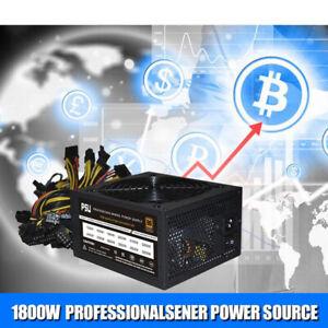 2000W Miner Netzteil ATX Mining Power Source Support 8 CPU-Karte ASE