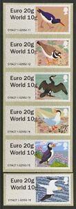 2011 Birds 4 Scarce Dual value Euro 20g World 10g overprint