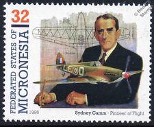 RAF Hawker HURRICANE & Sydney Camm WWII Aircraft Stamp (1996 Micronesia)