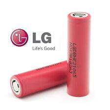 2 Genuine LG 18650 2500 mAh Haute vidange 35Amp Li-on Batterie Rechargeable HE2 3.7 V