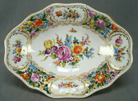 Carl Thieme Dresden Hand Painted Floral & Gold Reticulated Centerpiece Bowl