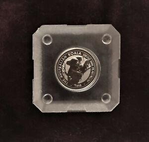 1998 Perth Mint Koala 1/20 oz .9995 Platinum Coin in Original Square Capsule