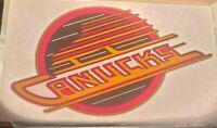 "Vancouver Canucks Skate Logo Iron On Heat Transfer Colored NO Glitter 6""x9"" NHL"