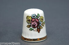 Lord Nelson Creamware Floral China Thimble B/42