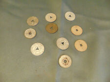 10 hand press metal tokens Property of Automatic Vendor Mississippi Louisianna