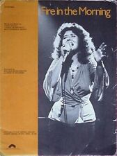 MELISSA MANCHESTER SHEET MUSIC, 1979 - FIRE IN THE MORNING