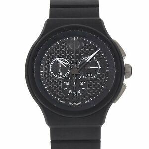 Movado Men's 0606929 'Parlee' Chronograph Black Titanium and Peek Watch