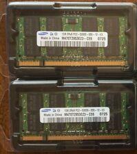 2 SAMSUNG M470T2953EZ3-CE6 (1GB DDR2 PC2-5300S 667MHz SODIMM 200-pin) DRAM - V,#