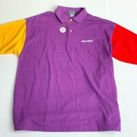 VTG 90's Power PC Apple Computer IBM Motorola Men's L Vantage Custom Polo Shirt