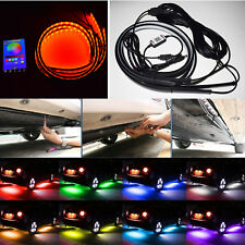 4x RGB LED Neon Lower Car Strip Light Underbody Chassis Decoration Phone Control
