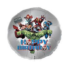 "AVENGERS FOIL BALLOON BIRTHDAY PARTY 45CM/18""  SUPER HERO THOR HULK IRAN MAN BOY"