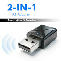 US USB Bluetooth 5.0 Wireless Audio Music Stereo adapter Dongle Receiver Fr PC