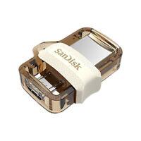 SanDisk 32GB 64GB Ultra Dual Drive USB-Sticks OTG microUSB USB 3.0 Goldene Farbe