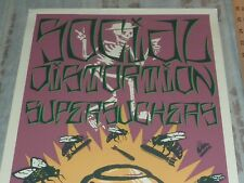 SOCIAL DISTORTION AND SUPERSUCKERS CONCERT SILKSCREENED POSTER SINGED BY ARTIST