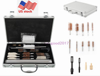 US 126ps Gun Barrel Cleaning Kit Tool Pro Pistol Rifle Shotgun Cleaner Box Set