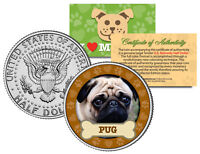 PUG *Dog Series* JFK Kennedy Half Dollar U.S. Colorized Coin