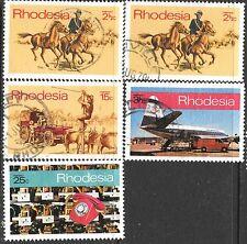 RHODESIA 1970 BLEEDING KNEE VARIETY POST & TELECOM CORP INAUG VF USED SETS 0894