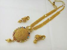 South Indian Fashion Jewelry New Long Rani Haar Necklace Bollywood Antique Set
