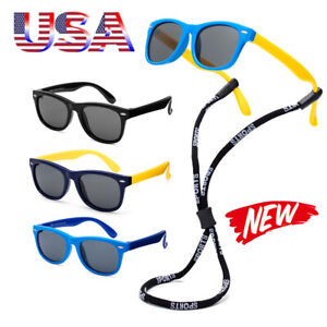 Polarized Kids Sunglasses Boys Girls Children Flexible Cycling Glasses Age 3-12