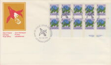 CANADA #705 1¢ BOTTLE GENTIAN LR PLATE BLOCK FIRST DAY COVER