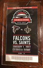 Atlanta Falcons Georgia Dome Final Year Ticket SGA NFC Championship Bound!