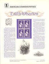 #132 15c Edith Wharton #1832 USPS Commemorative Stamp Panel