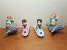 1990 Burger King toys Magic School Bus Arnold on dolphin and Carlos in jet ski