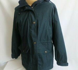 Pacific Trail Jacket Men's Med Flannel Lined Hunter Green Parka Vintage Coat