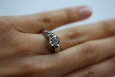 Steven Kretchmer Platinum  Ring with Cubic Zirconia