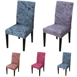 Removable Spandex Chair Seat Covers Slip Stretch Wedding Banquet Party Cover UK