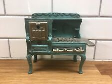 KENT ORIGINAL OLD CAST IRON TOY COOK STOVE Dollhouse Green