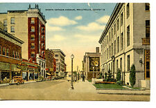 North Arthur Avenue Street Scene-Stores-Pocatello-Idaho-Vintage Linen Postcard