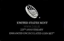 US ENHANCED BU SET 2017 - 10 coins (1 Cent - $1 Dollar + 5 x Quarter Dollar) BU