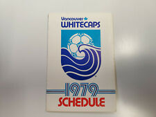 RS20 Vancouver Whitecaps 1979 NASL Soccer Pocket Schedule - Labatt's