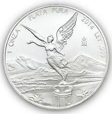 2014 Mexican Libertad 1 Troy oz .999 Fine Silver Coin Una Onza Plata Pura