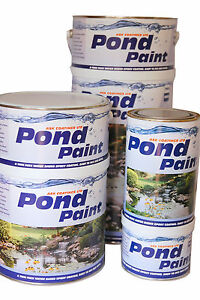 Epoxy Resin Pond Paint. For waterproofing & damp proofing ponds & water features