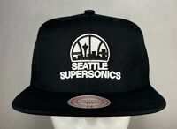 Mitchell and Ness NBA Seattle Supersonics HWC Primary Logo Snapback Hat, New