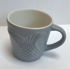 Starbucks 3oz Mermaid tail demi coffee mug grey 2016 Cappuccino