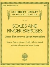 Scales & Finger Exercises Upper Elementary - Lower Intermediate PIANO Music Book