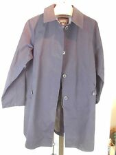 MISSES COTTON BLEND NAVY RAIN COAT TRENCH COAT LANDS' END XL 16 18 20