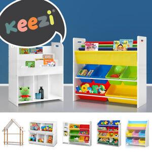 Keezi Kids Toy Box Bookshelf Organiser Display Shelf Storage Rack Drawer Bins