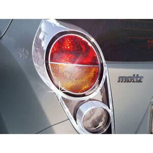 Chrome Tail Rear Light Lamp Cover 2p For 2010 2014 Chevy Holden Spark Matiz