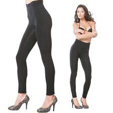 Womens High Waist Seamless Leggings Stretch Extra Control Slim Pants Black S M L